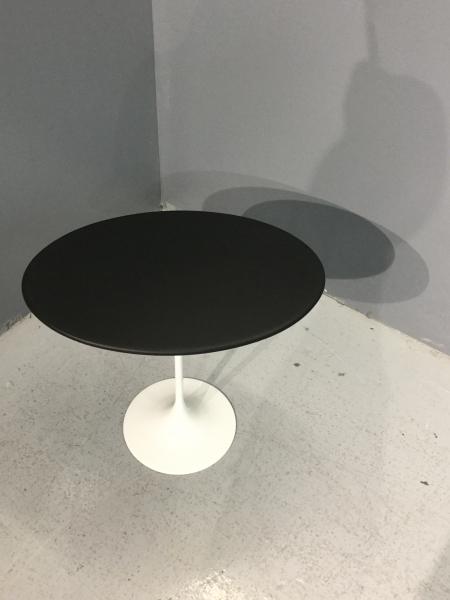 Table( Knoll ) gainée cuir noir