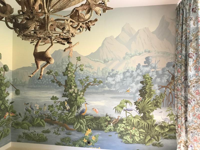 Pose papier peint Villa