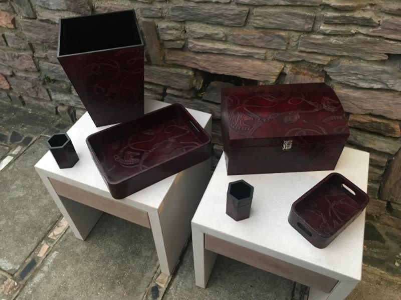 Articles divers -  gainage cuir façon Hermès