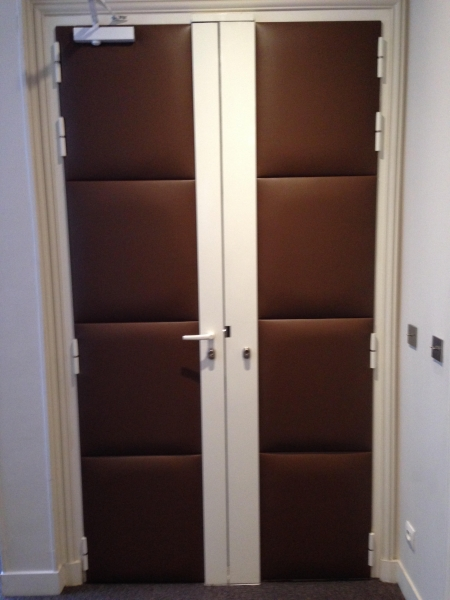 Gainage panneaux en cuir pour porte d\'entrée