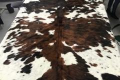 Peau vache poils naturelle tricolore