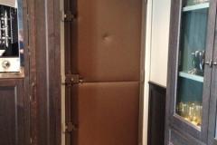 Gainage panneaux en cuir pour porte d'entrée