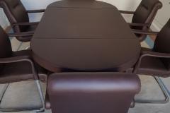 table-de-confc3a9rence-gainc3a9-cuir-et-ensemble-de-6-fauteuils-cuirs